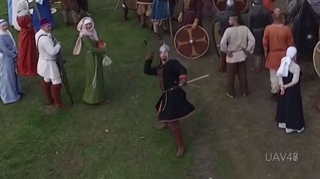 VIDEO: Drone Taken Out With A Spear!